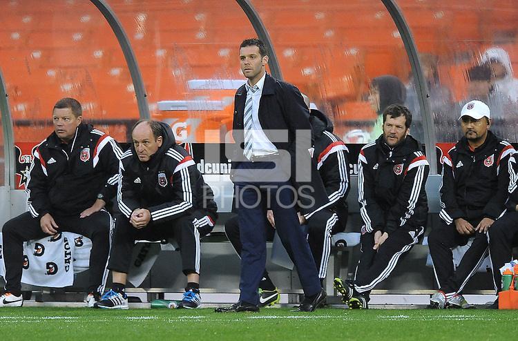 Washington, D.C.- March 29, 2014. D.C. United Head Coach Ben Olsen. The Chicago Fire tied D.C. United 2-2 during a Major League Soccer Match for the 2014 season at RFK Stadium.