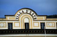 Europe/Italie/Lac de Come/Lombardie/Cernobbio : Villa d'Este (XVI°)