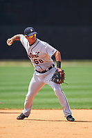 Detroit Tigers Anthony Pereira (68) during practice before a minor league Spring Training game against the New York Yankees on March 22, 2017 at the Yankees Complex in Tampa, Florida.  (Mike Janes/Four Seam Images)