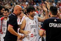 Kosarka FIBA Olympic Basketball Qualifying Tournament-FINAL<br /> Serbia v Puerto Rico<br /> Milos Teodosic (C) Nebojsa Ilic Stefan Markovic Nikola Kalinic Bogdan Bogdanovic<br /> Beograd, 09.07.2016.<br /> foto: Srdjan Stevanovic/Starsportphoto©