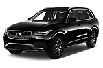 2020 Volvo XC90 Momentum 5 Door SUV Angular Front automotive stock photos of front three quarter view