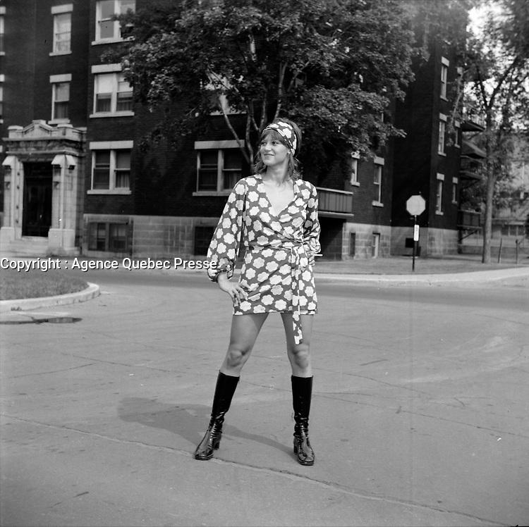 L'actrice Louise Turcot, vedette du film e rotique<br /> ''Deux femmes en or ''(Two Women in Gold), realise par Claude Fournier sorti en 1970.<br /> <br /> Photo : Agence Quebec Presse - Roland Lachance