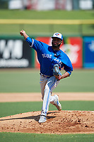 Toronto Blue Jays pitcher Yennsy Diaz (36) during an Instructional League game against the Philadelphia Phillies on September 17, 2019 at Spectrum Field in Clearwater, Florida.  (Mike Janes/Four Seam Images)