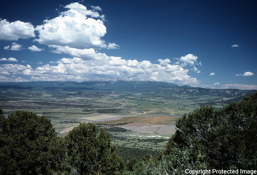 View from top of mesa, Southwestern United States