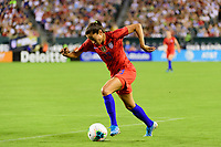 PHILADELPHIA, PA - AUGUST 29: Christen Press #23 of the United States during a game between Portugal and USWNT at Lincoln Financial Field on August 29, 2019 in Philadelphia, PA.