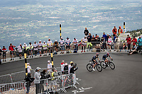 Richie Porte (AUS/Ineos Grenadiers) & Michal Kwiatkowski (POL/INEOS Grenadiers) topping the Mont Ventoux together.<br /> <br /> Stage 11 from Sorgues to Malaucène (199km) running twice over the infamous Mont Ventoux<br /> 108th Tour de France 2021 (2.UWT)<br /> <br /> ©kramon