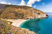 The beach Agios Dimitrios in Evia island, Greece