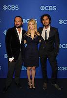 Johnny Galecki, Melissa Rauch, Kuhal Hayyar - Big Bang Theory at the CBS Upfront on May 15, 2013 at Lincoln Center, New York City, New York. (Photo by Sue Coflin/Max Photos)