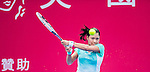 Risa Ozaki of Japan vs Venus Williams of USA during their singles 1st round match at the WTA Prudential Hong Kong Tennis Open 2016 at the Victoria Park stadium on 10 October 2016 in Hong Kong, China. Photo by Marcio Rodrigo Machado / Power Sport Images