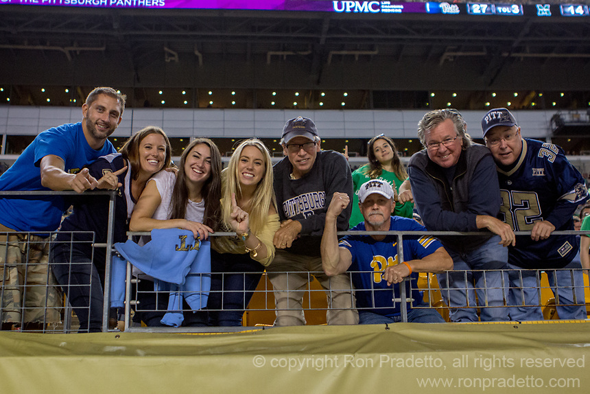 Pitt football fans. The Pitt Panthers defeated the Marshall Thundering Herd 43-27 on October 1, 2016 at Heinz Field in Pittsburgh, Pennsylvania.