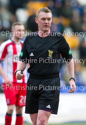 St Johnstone v Kilmarnock.....09.03.13      SPL.Ref Brian Colvin.Picture by Graeme Hart..Copyright Perthshire Picture Agency.Tel: 01738 623350  Mobile: 07990 594431