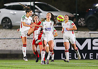 Luna Vanzeir (10 OHL) in action during a female soccer game between Oud Heverlee Leuven and Standard Femina De Liege on the 10th matchday of the 2020 - 2021 season of Belgian Womens Super League , sunday 20 th of December 2020  in Heverlee , Belgium . PHOTO SPORTPIX.BE   SPP   SEVIL OKTEM