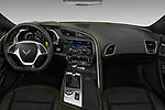 Stock photo of straight dashboard view of 2018 Chevrolet Corvette Grand-Sport-3LT 2 Door Convertible Dashboard