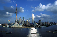 Cityscape of Shanghai city, China.
