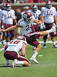 Texas A&M Aggies kicker Taylor Bertolet (24) in action during the game between the Southern Methodist Mustangs and the Texas A&M Aggies at the Gerald J. Ford Stadium in Dallas, Texas. Texas A & M defeats SMU 48 to 3.