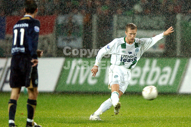 groningen - sparta  eredivisie seizoen 2007-2008 29-09- 2007 lindgren schiet *** Local Caption ***