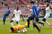 Santiago, Chile - Saturday, October 17, 2015: The USMNT U-17 bow to Nigeria 0-2 in their first round game during the 2015 FIFA U-17 World Cup at Stadium Nacional Julio Martínez Prádanos.