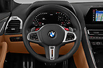 Car pictures of steering wheel view of a 2020 BMW M8-Gran-Coupe Competition 4 Door Sedan Steering Wheel