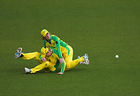 Australia's Beth Mooney and Rachael Haynes collide while fielding during the 2nd international women's T20 cricket match between the New Zealand White Ferns and Australia at McLean Park in Napier, New Zealand on Tuesday, 30 March 2021. Photo: Dave Lintott / lintottphoto.co.nz