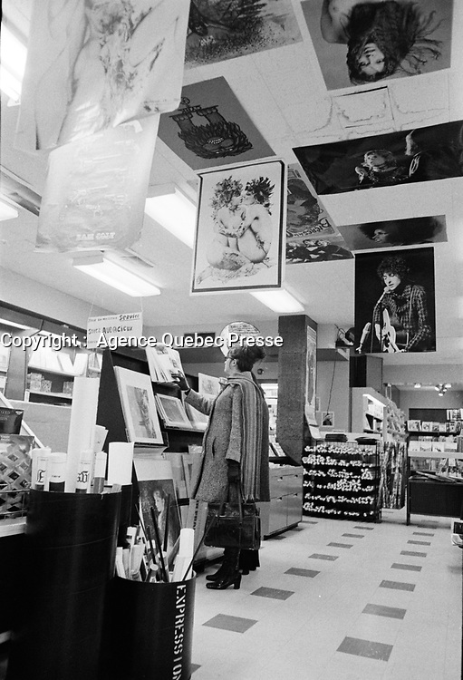 ARCHIVE -<br /> Librairie Renaud - Bray<br /> date inconnue, vers 1978<br /> <br /> Photo : Agence Quebec Presse  - Alain Renaud