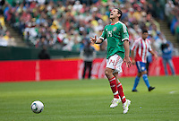 Javier Hernandez reacts after being called offsides. Mexico defeated Paraguay 3-1 at the Oakland Coliseum in Oakland, California on March 26th, 2011.