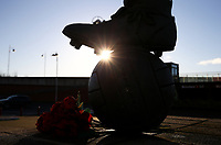 A general view of a statue outside the Riverside Stadium, home of Middlesbrough<br /> <br /> Photographer Alex Dodd/CameraSport<br /> <br /> The EFL Sky Bet Championship - Middlesbrough v Norwich City - Saturday 21st November 2020 - Riverside Stadium - Middlesbrough<br /> <br /> World Copyright © 2020 CameraSport. All rights reserved. 43 Linden Ave. Countesthorpe. Leicester. England. LE8 5PG - Tel: +44 (0) 116 277 4147 - admin@camerasport.com - www.camerasport.com