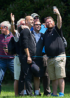 Pep Guardiola (Manchester City Manager) has a selfie with spectators during the BMW PGA PRO-AM GOLF at Wentworth Drive, Virginia Water, England on 23 May 2018. Photo by Andy Rowland.
