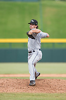 Peoria Javelinas relief pitcher Phoenix Sanders (52), of the Tampa Bay Rays organization, delivers a pitch during an Arizona Fall League game against the Mesa Solar Sox at Sloan Park on October 11, 2018 in Mesa, Arizona. Mesa defeated Peoria 10-9. (Zachary Lucy/Four Seam Images)