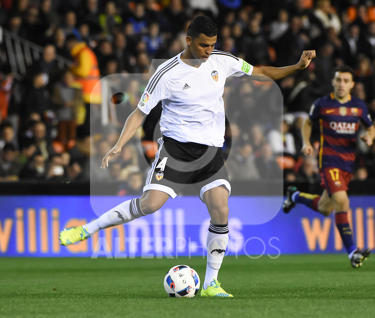 Valencia's   Santos   during Spanish King's Cup match. February 10, 2016. (ALTERPHOTOS/Javier Comos)