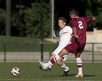 Boston College defender Ryan Dunn (3) passes the ball. Boston College defeated Harvard University, 2-0, at Newton Campus Field, October 11, 2011.