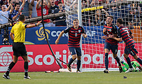 Cleveland, OH - Saturday July 15, 2017: Matt Miazga celebrates his goal a goal during a 2017 Gold Cup match between the men's national teams of the United States (USA) and Nicaragua (NCA) at FirstEnergy Stadium.