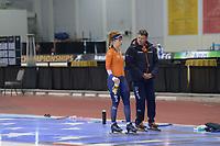 SPEEDSKATING: 13-02-2020, Utah Olympic Oval, ISU World Single Distances Speed Skating Championship, Training, Antoinette de Jong (NED), Jan Coopmans (bondscoach langebaan KNSB), ©Martin de Jong