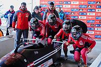 4 Man World Cup Bobsled race at Lake Placid, New York