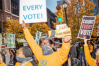 Ballot counting demonstrations - Philadelphia PA - 5 Nov 2020