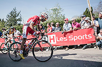 Daniel Navarro (ESP/Cofidis), 2nd run up on the infamous Mur de Huy<br /> <br /> <br /> <br /> 82nd La Flèche Wallonne 2018<br /> 1 Day Race: Seraing - Huy (198,5km)
