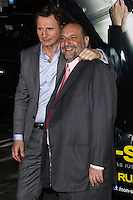 """WESTWOOD, CA, USA - FEBRUARY 24: Liam Neeson, Joel Silver at the World Premiere Of Universal Pictures And Studiocanal's """"Non-Stop"""" held at Regency Village Theatre on February 24, 2014 in Westwood, Los Angeles, California, United States. (Photo by Xavier Collin/Celebrity Monitor)"""