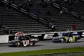 #51: Harrison Burton, Kyle Busch Motorsports, Toyota Tundra DEX Imaging, #24: Justin Haley, GMS Racing, Chevrolet Silverado Fraternal Order Of Eagles