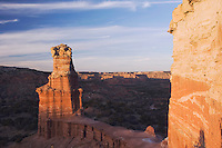 The Lighthouse at sunset, Palo Duro Canyon State Park, Canyon, Panhandle, Texas, USA, February 2006