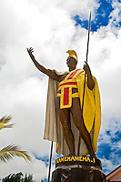 The original cast of the statue of King Kamehameha the Great, Kapa'au, Kohala, Big Island.