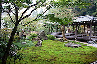 Zen garden at Buddhist temple in Kyoto