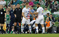 Dublin, Ireland - Saturday June 02, 2018: Tim Parker, Cameron Carter-Vickers during an international friendly match between the men's national teams of the United States (USA) and Republic of Ireland (IRE) at Aviva Stadium.