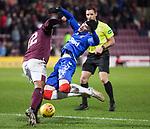 29.02.2020 Hearts v Rangers: Ianis Hagi and Loic Damour