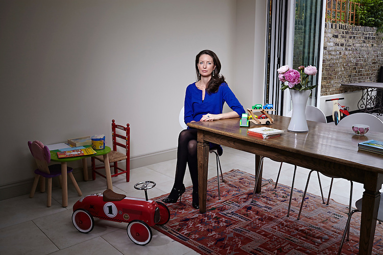 140627 © John Angerson<br /> Times magazine - feature on Children's future<br /> Emanuela Romani at her family home in Fulham London.
