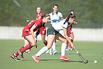 Krefeld, Germany, August 27: During the women quarterfinal fieldhockey match between Mannheimer HC and Uhlenhorst Muelheim on August 27, 2021 at the 1. Liga-Cup at CSV Marathon in Krefeld, Germany. (Photo by Dirk Markgraf / www.265-images.com) *** Local caption ***