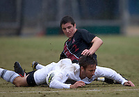 Berkeley, CA - November 11th, 2011: JJ Koval of Stanford in action during a soccer game against California.  Stanford won, 3-0.