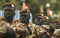 Abidjan, 7 août 2017 - 57e anniversaire de la Répubrique de Côte d'Ivoire - Défilé militaire : des foces spéciales au palais de la Présidence au plateau. # 57E FETE DE L'INDEPENDANCE DE LA COTE D'IVOIRE