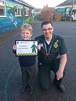 "Pictured L-R: Baeu Austin with Ashley Page, the operator who took the call.<br /> Re: A four year old boy from Pembrokeshire who called for an ambulance using Siri when his mum became unwell has been praised for his actions.<br /> Brave Beau Austin asked Siri via an iPhone to dial 999 when his mum Jess, who is in the first trimester of her pregnancy, fainted through experiencing side effects of her morning sickness medication.<br /> Beau spoke to Ashley Page, a 999 Emergency Medical Services call taker at Welsh Ambulance Service, who quickly identified Beau was on his own with his mum and adapted a more child-friendly style and technique to obtain Beau's home address.<br /> Although Jess recovered briefly to confirm her full address and answer some questions, she fainted a second time and the ambulance service again called on Beau for his help.<br /> Ashley encouraged Beau to call his mum and try and get her to respond, and she came around a second time and spoke to Ashley. While they waited for help to arrive, they discovered that Beau had contacted 999 using Siri, a virtual personal assistant found on Apple phones.<br /> Ashley said: ""We frequently take calls from children and younger people, but I think this is the first time I've heard of a four-year-old using Siri to contact us. I didn't even know you could do that! It's great that voice technology can be used in this way.<br /> ""As call handlers we are trained to talk to callers through potential emergencies, and it was Beau's knowledge of technology, awareness of his address and staying calm that really made a difference and helped his mum and us.""<br /> Mum Jess said: """"It was just me and Beau in the house by ourselves so he did really, really well. To use Siri like that is incredible. I didn't even know you could do that on a phone. He's often having conversations with Siri but this was so clever.<br /> ""Both dad and I are extremely proud of Beau. We are so impressed by what he did, the way he handled himself and the important skills he h"