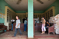 Pharmacy on the main street in Vinales, Pinar del Rio Province, Cuba.