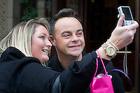 Britains Got Talent judges leaving the Balmoral Hotel and head for the Festival Theatre, Edinburgh, Scotalnd, 11th February, 2012 Pictured Anthony McPartlin.Picture:Scott Taylor Universal News And Sport (Europe) .All pictures must be credited to www.universalnewsandsport.com. (Office)0844 884 51 22.