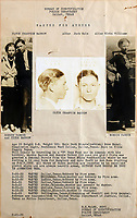 "BNPS.co.uk (01202 558833)<br /> Pic: RRAuction/BNPS<br /> <br /> Band on the run- Vintage Bonnie & Clyde Wanted poster was included in the sale.<br /> <br /> Crime Pays - The fascinating and poignant archive of America's most notorious gangster couple have sold for a whopping £150,000 at auction.<br /> <br /> The enduring myth of Bonnie and Clyde perpetuated by Hollywood movies led to historic items from their bloody rampage across the wild west fetching high prices over the weekend.<br /> <br /> A pump action shotgun they ditched during a famous shoot-out was sold alongside poignant poetry written by Bonnie, and a bitter letter from Clyde to a former gang member.<br /> <br /> The weapon, with a 15ins barrel, was recovered by police following a gun fight between the infamous outlaws and the authorities at Joplin, Missouri, in 1933, during which two officers were killed.<br /> <br /> Also included in the sale is a gold wristwatch recovered from Clyde's body following his death, a bulletproof jacket found in their car and a no holds barred letter penned by Bonnie, and signed by Clyde, to a hated ex member of the Barrow Gang in prison.<br /> <br /> In it, she writes: ""Due to the fact that you offered no resistance sympathy is lacking. The most I can do is hope you miss the 'chair'."""